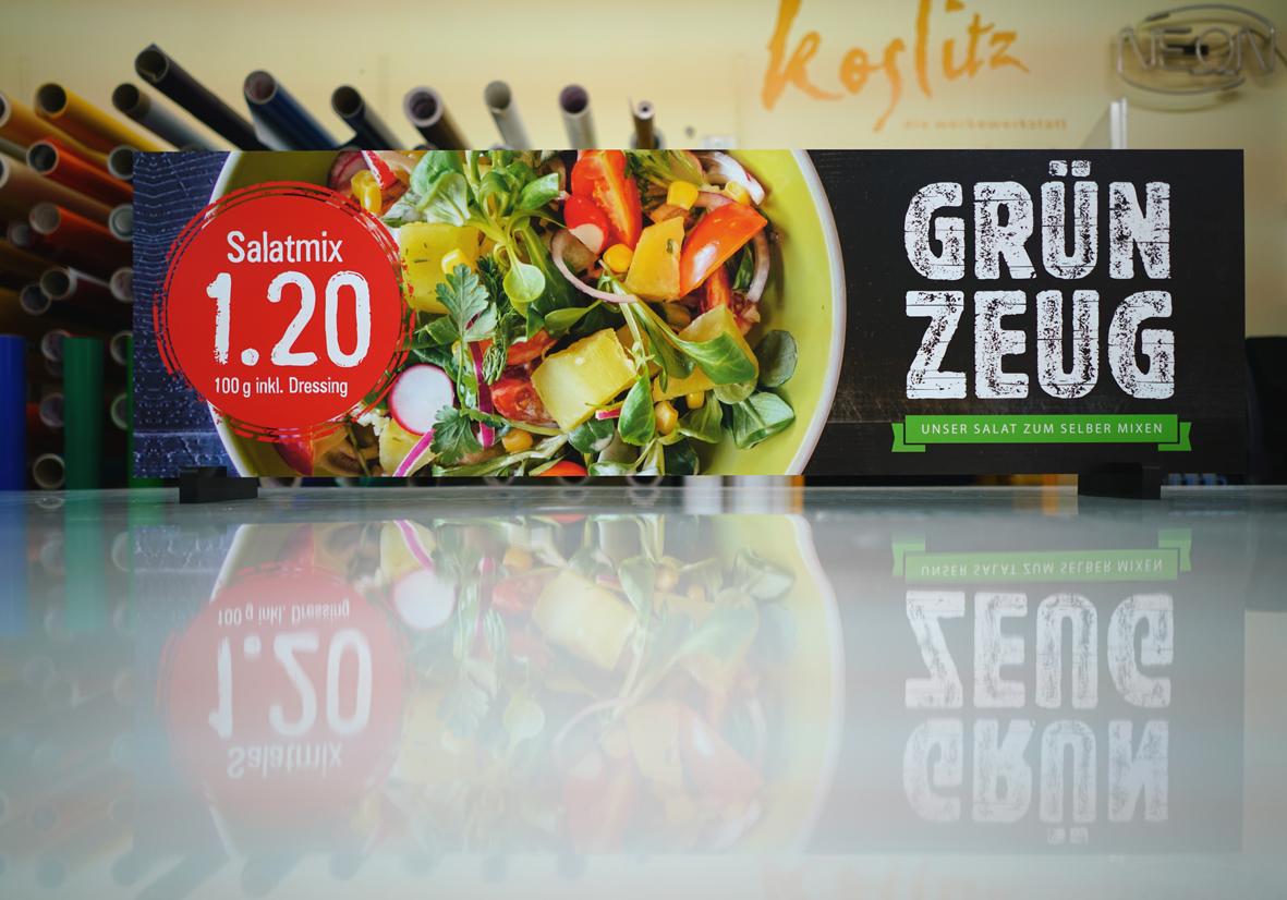 Koslitz_Werbeanlagen-Folientechnik-SalatBar_Grünzeug_Schild