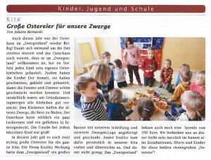 Koslitz Werbeanlagen GmbH - Spende Kita Zwergenland
