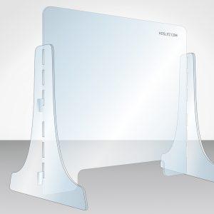Corona-Schutz, Spuckschutz, Niesschutz, mobile Hygieneschutzwand aus Plexi